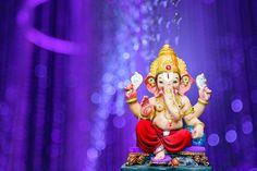 Lord ganesha in purple bokeh lights | Premium Photo #Freepik #photo #gold Lord Ganesha Paintings, Ganesha Art, Happy Diwali Photos, Ganpati Bappa Wallpapers, Ganesh Lord, Pink Bedroom Decor, Ganesha Pictures, Happy Ganesh Chaturthi, Diwali Celebration