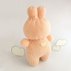 Knitted Bunny Toy  Hearted Boobi collection by trepuntozerocivette,