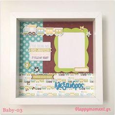 Χειροποίητη κορνίζα με τρένο, ιδανική για δώρο σε νεογέννητο!   Happymoment.gr Baby Frame, My Heart, Home Decor, Decoration Home, Room Decor, Interior Design, Home Interiors, Interior Decorating