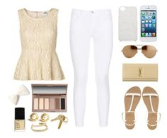 """""""Wardrobe Staples: Summer Sandals"""" by ssm1562 ❤ liked on Polyvore featuring ASOS, Vero Moda, J Brand, Yves Saint Laurent, Linda Farrow Luxe, Forever New, Urban Decay, NARS Cosmetics, Napier and Maiyet"""