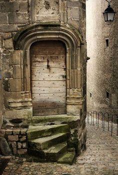 The Ancient Door ~ Auvergne. Portes en Auvergne IV by Cool Doors, The Doors, Unique Doors, Windows And Doors, When One Door Closes, Closed Doors, Door Knockers, Gates, Doorway