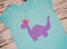 Princess dinosaur shirt