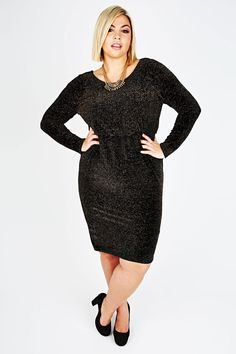 00a63037b7c Fashion Plus Size Womens Metallic Thread Dress With Draped Back  www.fashionbug.us