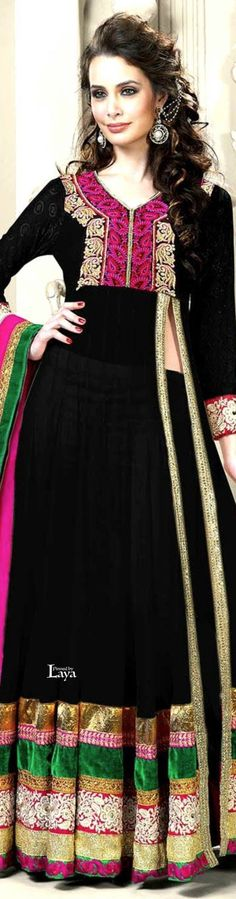 .❋*✿.Anarkali Churidar.✿*❋.Laya Anarkali Churidar, Anarkali Suits, Salwar Kameez, India Culture, India And Pakistan, India Fashion, Indian Outfits, Dress To Impress, Personal Style