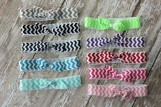 Set of 10 Chevron Elastic Hair Tie - Ponytail Holders - Hairties on Etsy, $10.99