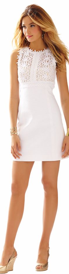 BREAKERS LACE TOP SHIFT DRESS