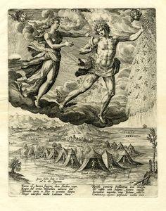 "the Four Winds: ""Oriens"" by Jan Sedeler after Marten de Vos - 1580"