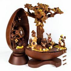 Chocolats de Pâques 2020 by Yves Thuriès Artisan Chocolatier, Easter Chocolate, Egg Art, Snow Globes, Planter Pots, Restaurant, Plantation, Montage, Food