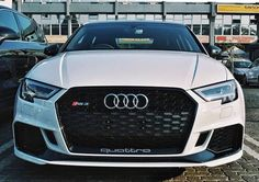 - new sedan Panda edition anyone? suits the very well it seems . Audi Rs3, Car Goals, Audi Sport, Top Cars, Sexy Cars, Car Car, Audi Quattro, Cars And Motorcycles, Dream Cars