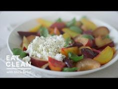 Beet-Plum and Fresh Ricotta Salad - Eat Clean with Shira Bocar