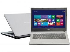 Notebook Philco 14M2-S1244 com AMD Dual Core - 1.0 Ghz 4GB 500GB Windows 8.1 LED 14 3D HDMI