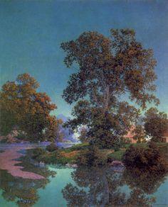 """Maxfield Parrish, """"Ottauqueechee River"""""""