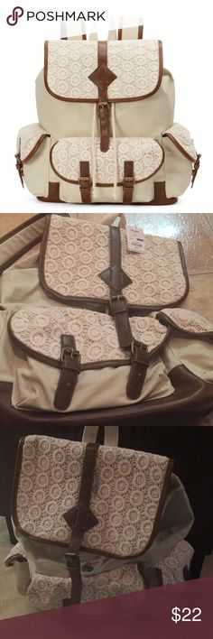 1 hour specialMudd backpack in beige new with tags Mudd backpack new with tags beige color Mudd Bags Backpacks