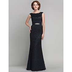 Trumpet/Mermaid Scoop Floor-length Lace And Satin Mother of the Bride Dress (605582) – USD $ 199.99