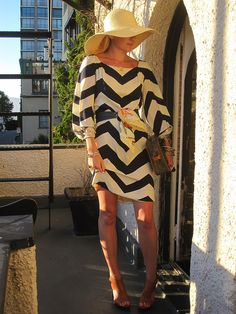 d374df7f5518f This navy chevron dress adds a fun twist to nautical stripes- and is great  for
