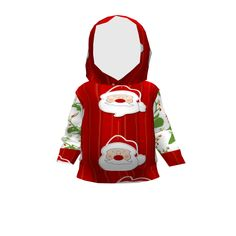 Brindille and Twig Baby Hoodie made with Spoonflower designs on Sprout Patterns.