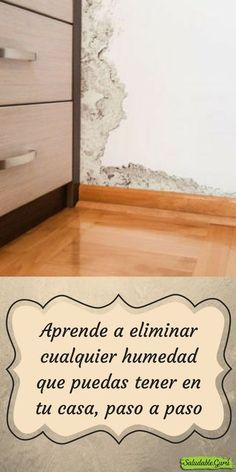 Aprende a eliminar cualquier humedad que puedas tener en tu casa, paso a paso House Cleaning Tips, Cleaning Hacks, Green Cleaning, Make Your Own Stencils, House Wash, Plaster Crafts, Diy Crayons, Power Clean, Tadelakt