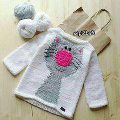 Best Crochet Ideas For Boys Girls Ideas Crochet Sole, Pull Crochet, Knit Crochet, Crochet Hats, Knitting For Kids, Crochet For Kids, Hand Knitting, Crochet Ideas, Baby Sweater Knitting Pattern