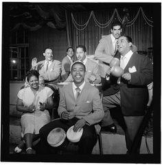 [Portrait of Machito, Jose Mangual, Carlos Vidal(?), and Graciella Grillo, Glen Island Casino, New York, N.Y., ca. July 1947] (LOC)