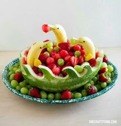 Super fun way to serve fruit!
