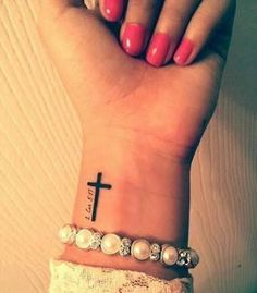 Image result for small cross tattoo