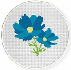 Wildflower cross stitch.