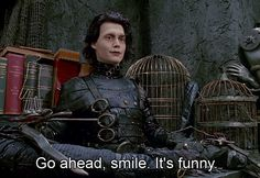 """Edward Scissorhands"" (1990) >> Johnny Depp & Vincent Price 