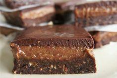 Raw Vegan Caramel Brownie Slice #Gluten Free | One Green Planet