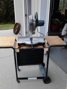 Repurposed gas grill to a miter saw stand