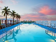 The rooftop at Gansevoort Miami Beach