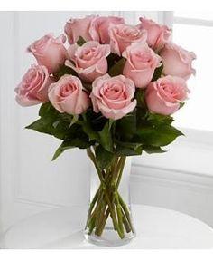 FTD Flowers Medium Pink Roses - 12 Stems With Vase by anytimeflower Pink Rose Bouquet, Pink Rose Flower, Rose Flower Arrangements, Hot Pink Roses, Rose Centerpieces, Rose Vase, Rose Decor, Pretty Flowers, Avas Flowers