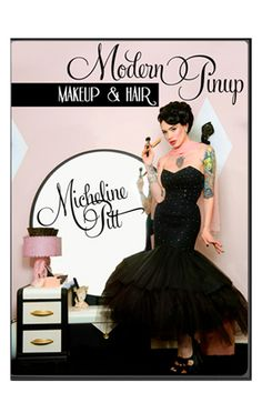 With over 10 hours of footage over 3 disks, Micheline Pitt shows you how to perfect pinup hair and makeup. This informational dvd focuses on the iconic looks of the 30's-60's.    #blamebetty #michelinepitt #modernpinup