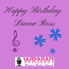 Happy Birthday Diana Ross!  #wrnw1radio #dianaross Todays Birthday, Happy Birthday, Diana Ross, Happy Brithday, Urari La Multi Ani, Happy Birthday Funny, Happy Birth