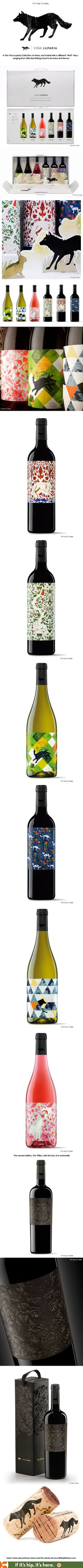 Vi�a Luparia Wines Are Beautifully Branded And Labeled Each Tells A Story  That Revolves Around