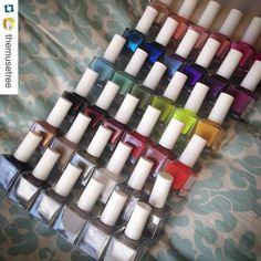 The Decades Collection 2015. Collections are created to tell a story. Colors and finishes enhance each other while complimenting previous and future collections.  #Repost @themusetree. ・・・ The full #DecadesCollection from @squarehue in all its glory  this pic excludes the 9 other polishes I have from #squarehue, but I thought it would be fun to see this year's collection all together.  Look at all those colors! Which is your favorite? Nail Polish Sets, Hue, Compliments, Things To Think About, Collections, Future, Create, Nails, Colors