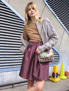 turtleneck with a full skirt mixed london