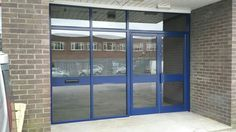 Before & after photo's of replacement aluminium shop front with anti sun glass Before After Photo, French Doors, Divider, Construction, Windows, Sun, Glass, Room, Shopping