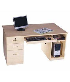 Mavi Computer Table Mavi… Computer Desks For Home, Computer Workstation, Home Desk, Home Office, Computer Equipment, Work Station Desk, Teen Room Decor, Acacia Wood, Home Kitchens