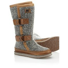 Women's Chipahko wool boot from Sorel. Love these, they seem comfortable, but unfortunately not waterproof.