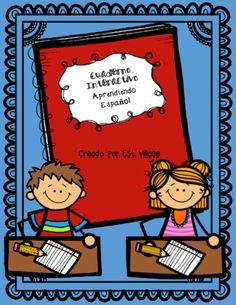 Cuaderno Interactivo Aprendiendo Español from ESL Village on TeachersNotebook.com -  (56 pages)  - Spanish / Interactive notebook / Vocabulary / First Grade