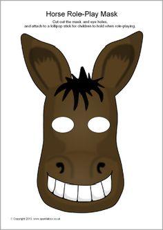 Horse role-play masks (SB9259) - SparkleBox