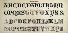 Alphabet in Medieval script :: Zaner-Bloser Penmanship Vintage Fonts, Vintage Typography, Graphics Vintage, Calligraphy Fonts, Typography Fonts, Caligraphy, Script Alphabet, Alphabet Letters, Improve Your Handwriting
