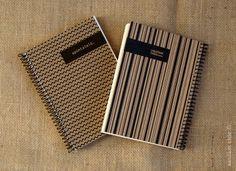 Mini cuaderno diseño chevron y rayas código.  http://blog.saulamchic.com/muy-personal/
