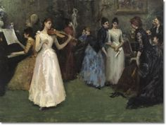 Fausto Zonaro - Concerto In Famiglia 1888 Academic Art, Cultural Studies, Modern Pictures, Pictures Of People, Art History, Appreciation, Literature, Culture, Drawings