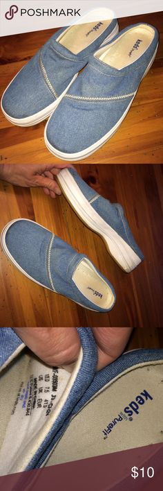 Size 10 Light Denim Sneaker Slide Ons $3,$4,$5 ITEMS MUST BE BUNDLED😊Prices in this Closet are LOW AND FIRM. No bargaining needed😉 Makes it so much easier to just offer low low prices from the start 😊ASK ALL THE QUESTIONS YOU WANT BEFORE PURCHASING. 😘. TRADE VALUE IS $5.00 HIGHER THAN LISTED SALE PRICE!!😜 Keds Shoes Sneakers