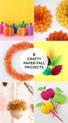 The official start of Fall is this Monday, September but Fall doesn't turn on like a light switch. Many of you have been crafting up Fall projects Pumpkin Cards, Paper Pumpkin, Paper Cards, Diy Paper, Fall Projects, Craft Projects, Googly Eye Crafts, Paper Dahlia, Glitter Pumpkins