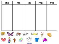 Spanish M Syllable sort- ma, me, mi, mo, mu by Alyssa Shlensky Learning Spanish For Kids, Teaching Spanish, Speech Language Therapy, Speech And Language, Language Activities, Learning Activities, Dual Language Classroom, Dora, Summer Fun For Kids
