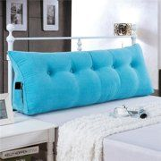 SZDL Reading Cushion Back Cushion Lumbar Pillow Ergonomic Support Wedge Cushion Neck Pillow Throw Pillow for Bed TV (Color : Sky Blue, Size : Pillow Headboard, Bed Rest Pillow, Throw Pillows Bed, Neck Pillow, Lumbar Pillow, Wedge Pillow, Pink Comforter Sets, King Comforter