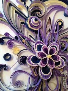 Картина панно рисунок Квиллинг Завитки для Хомячка Бумажные полосы фото 3
