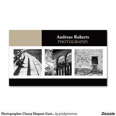 Fotograf-noble elegante kundenspezifische visitenkarten